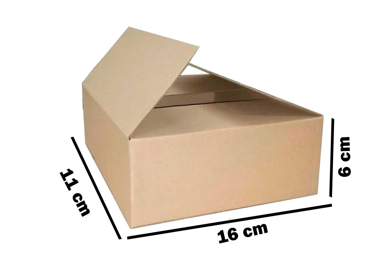 Kit 50 Unidades Caixa de Papelão 16x11x6
