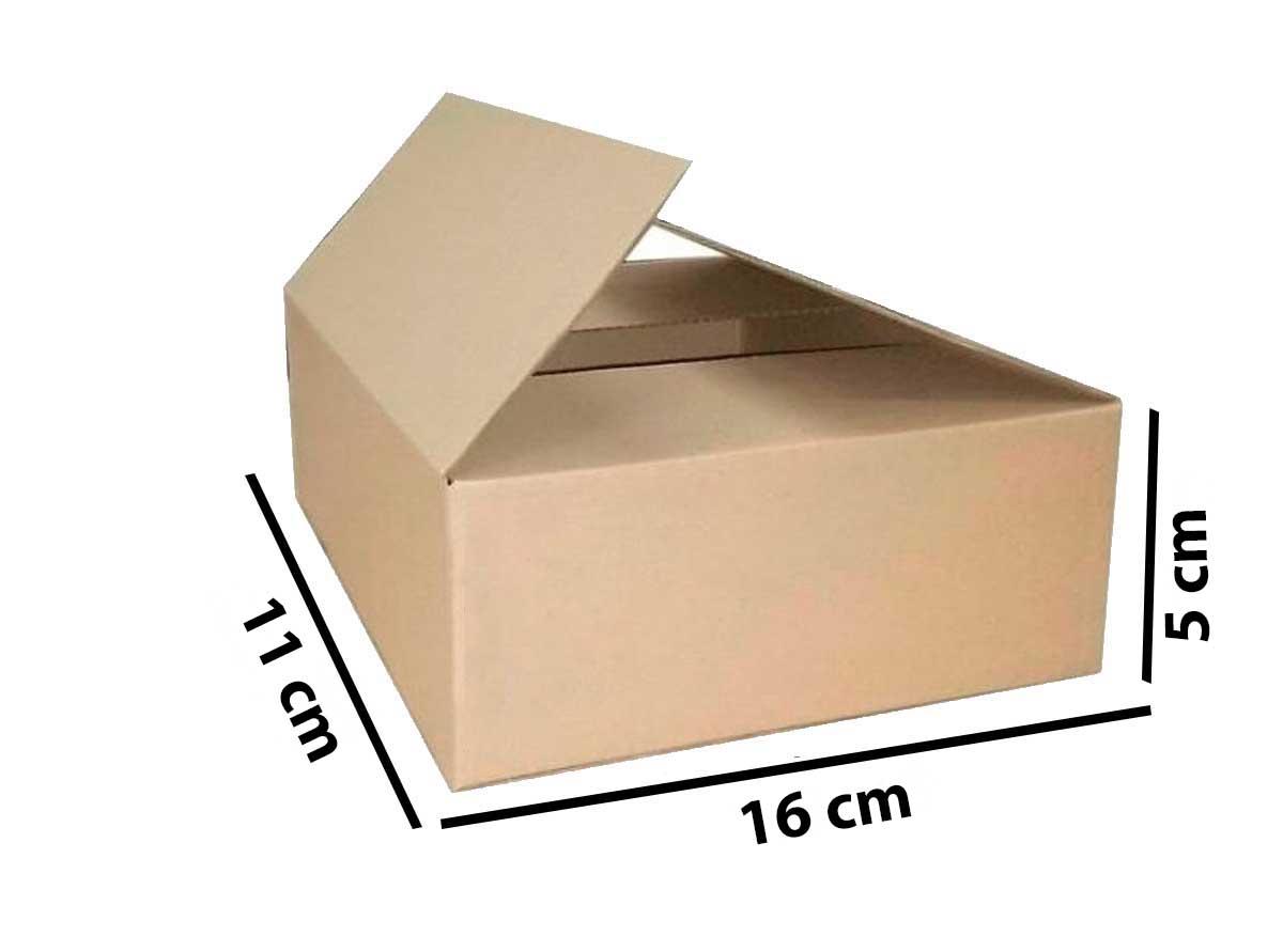 Kit 75 Unidades Caixa de Papelão 16x11x5 - Custo  0,48 /UN