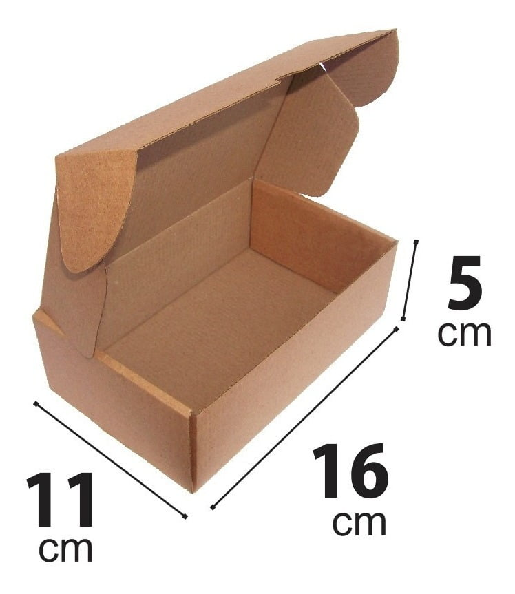 Kit 100 Unidades Caixa de Papelão SEDEX 16x11x5 - Custo  0,55 /UN