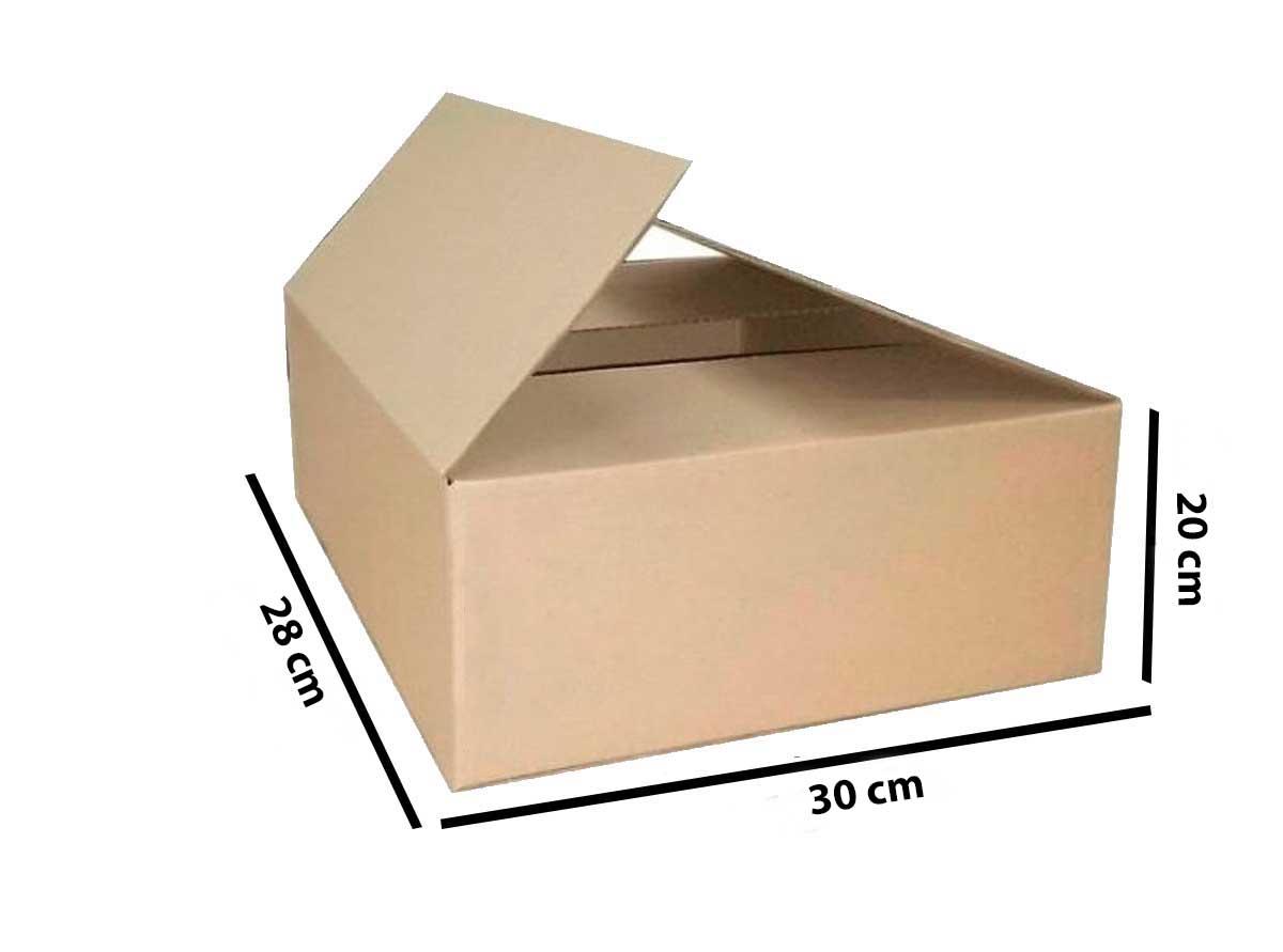 Kit 200 Unidades Caixa de Papelão 30x28x20 - Custo 1,68 R$ /UN