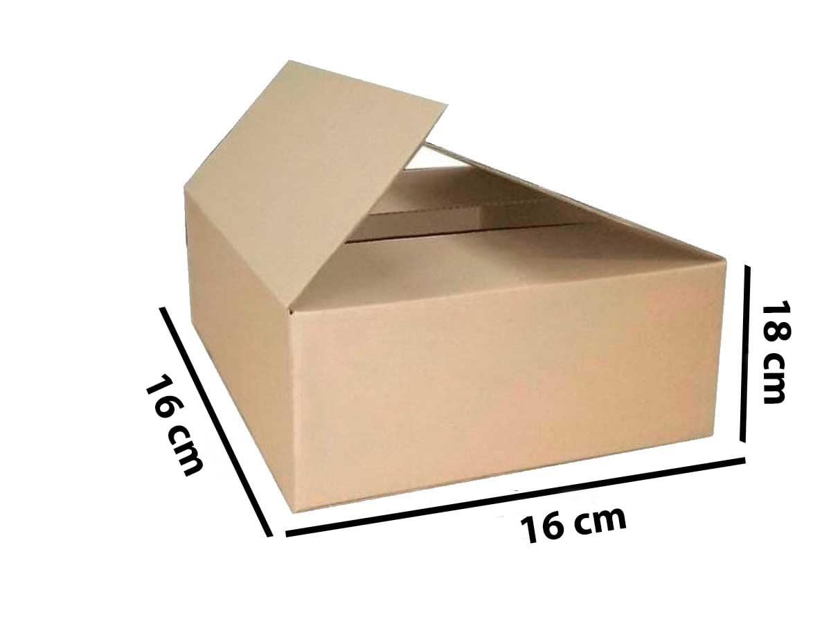 Kit 500 Unidades Caixa de Papelão 16x16x18 - Custo 0,81 R$ /UN