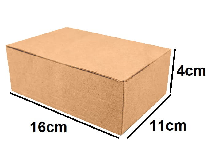 Kit 25 Unidades Caixa de Papelão Econômica 16x11x4 - Custo  0,36 /UN
