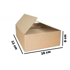 Kit 100 Unidades Caixa de Papelão 16x11x6