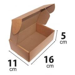Kit 100 Unidades Caixa de Papelão 16x11x5 - Custo  0,55 /UN