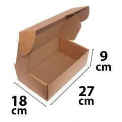 Kit 200 Unidades Caixa de Papelão SEDEX 27x18x9 - Custo  1,26 /UN
