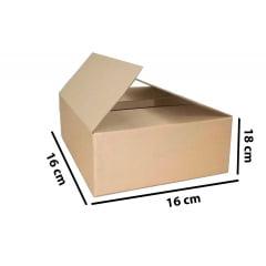Kit 100 Unidades Caixa de Papelão 16x16x18 - Custo 0,85 R$ /UN
