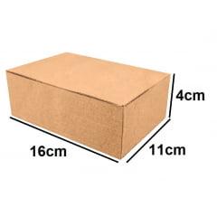 Kit 50 Unidades Caixa de Papelão Econômica 16x11x4 - Custo  0,34 /UN