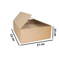Kit 50 Unidades Caixa de Papelão 31x22x24 - Custo 1,63 R$ /UN