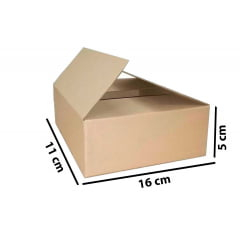 Kit 50 Unidades Caixa de Papelão 16x11x5 - Custo  0,48 /UN