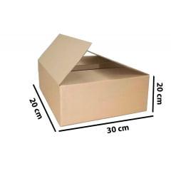 Kit 100 Unidades Caixa de Papelão 30 x 20 x 20  - Custo R$ 1,31 /UN