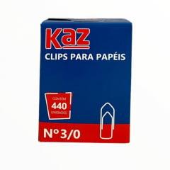 Clips P/ Papéis N 3/0 - Caixa com 440un